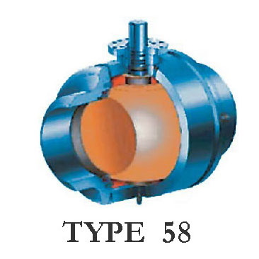 Type 58 Trunnion Mounted Ball Valve